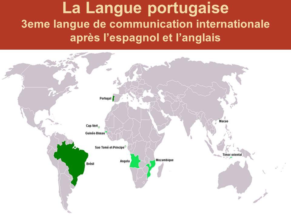 46 Plus de 200 millions de parlants 6e langue maternelle 1. Mandarin 2. Espagnol 3. Anglais 4. Bengali 5. Hindi 6. Portugais 11. Français Langue portu