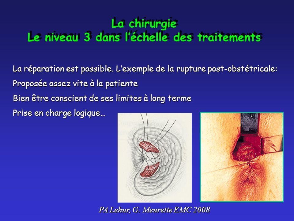 La chirurgie Le niveau 3 dans léchelle des traitements La chirurgie Le niveau 3 dans léchelle des traitements La réparation est possible.
