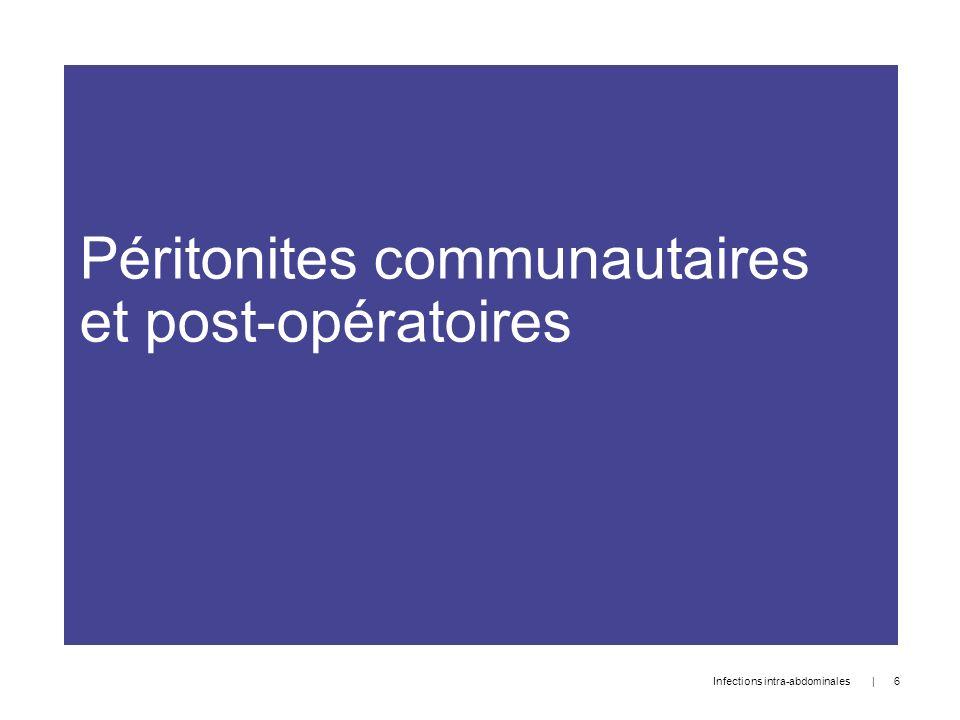 Péritonites communautaires et post-opératoires   6 Infections intra-abdominales