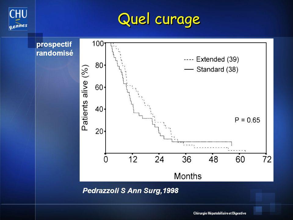 Chirurgie Hépatobiliaire et Digestive Quel curage Pedrazzoli S Ann Surg,1998 prospectif randomisé