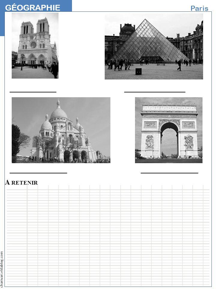 charivari.eklablog.com GÉOGRAPHIE NOM Paris A RETENIR _____________ _________________ ________________