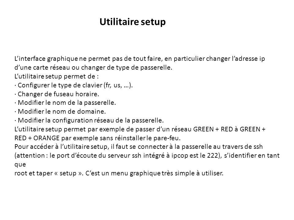 Linterface graphique ne permet pas de tout faire, en particulier changer ladresse ip dune carte réseau ou changer de type de passerelle.