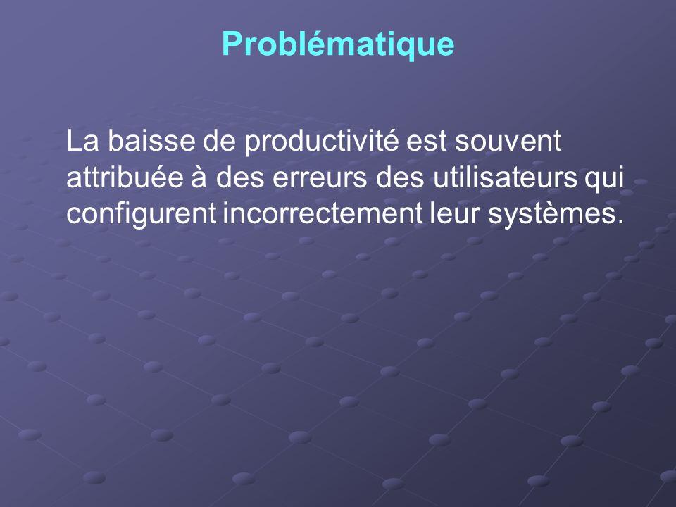 Solution Elle consiste à lutilisation de la console Stratégie de groupe pour simplifier les environnements utilisateur, la productivité augmente et le recours au support technique sur le réseau est réduit.