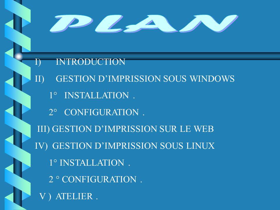 Installation d une imprimante pour un périphérique d impression à interface réseau (Suite) b 9.