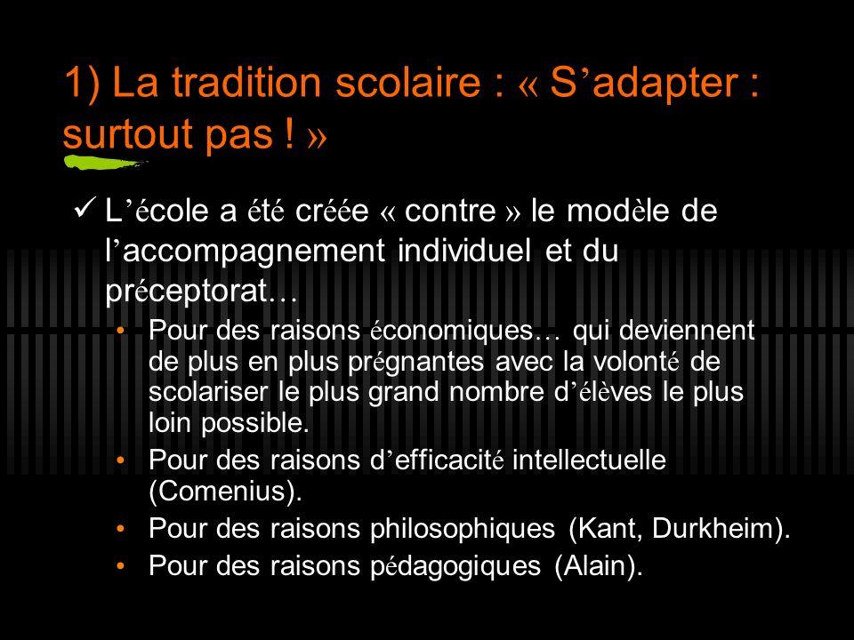 5) Quelques perspectives r é gulatrices pour d é passer les contradictions de « l adaptation » aujourd hui 1.