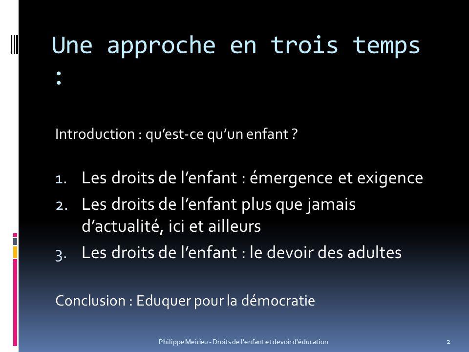 Introduction : quest-ce quun enfant.