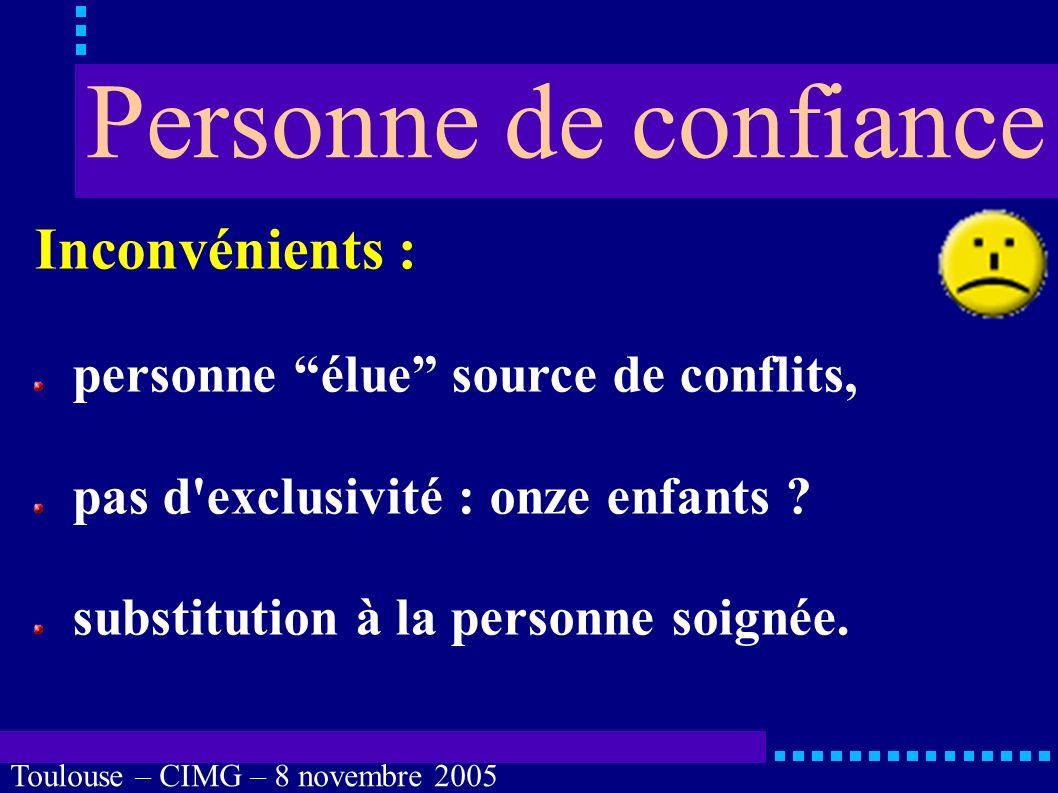 Toulouse – CIMG – 8 novembre 2005 Quels moyens mettre en œuvre .