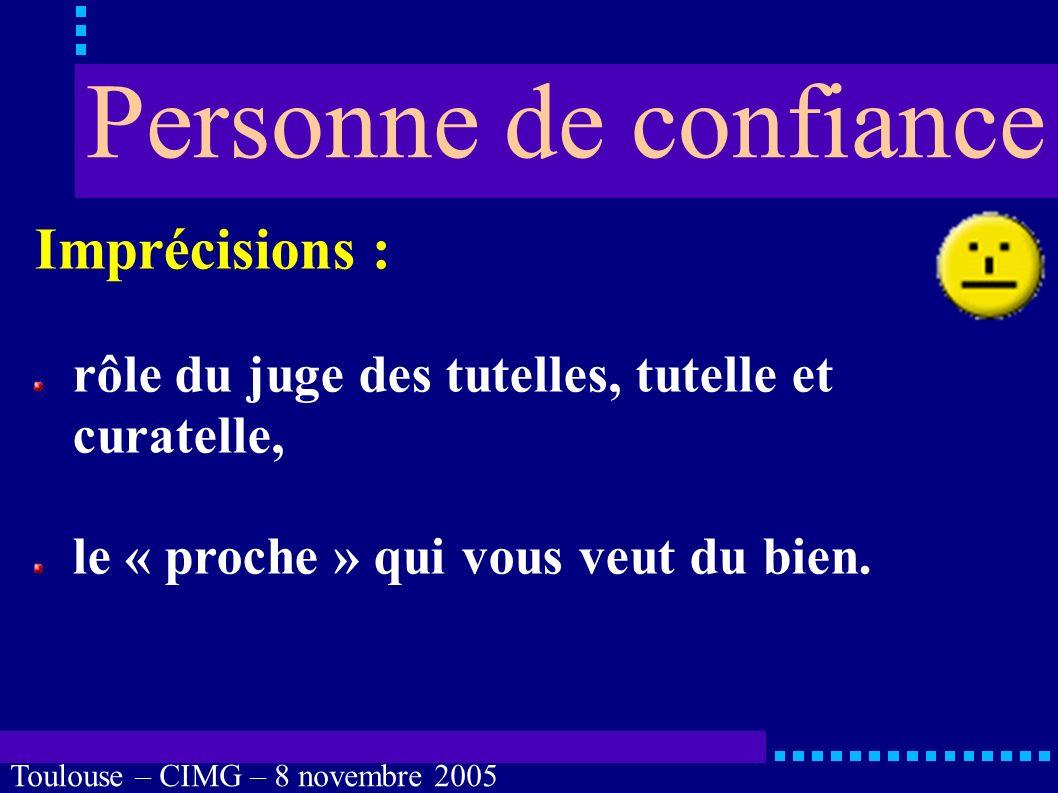 Toulouse – CIMG – 8 novembre 2005 Inconvénients : personne élue source de conflits, pas d exclusivité : onze enfants .