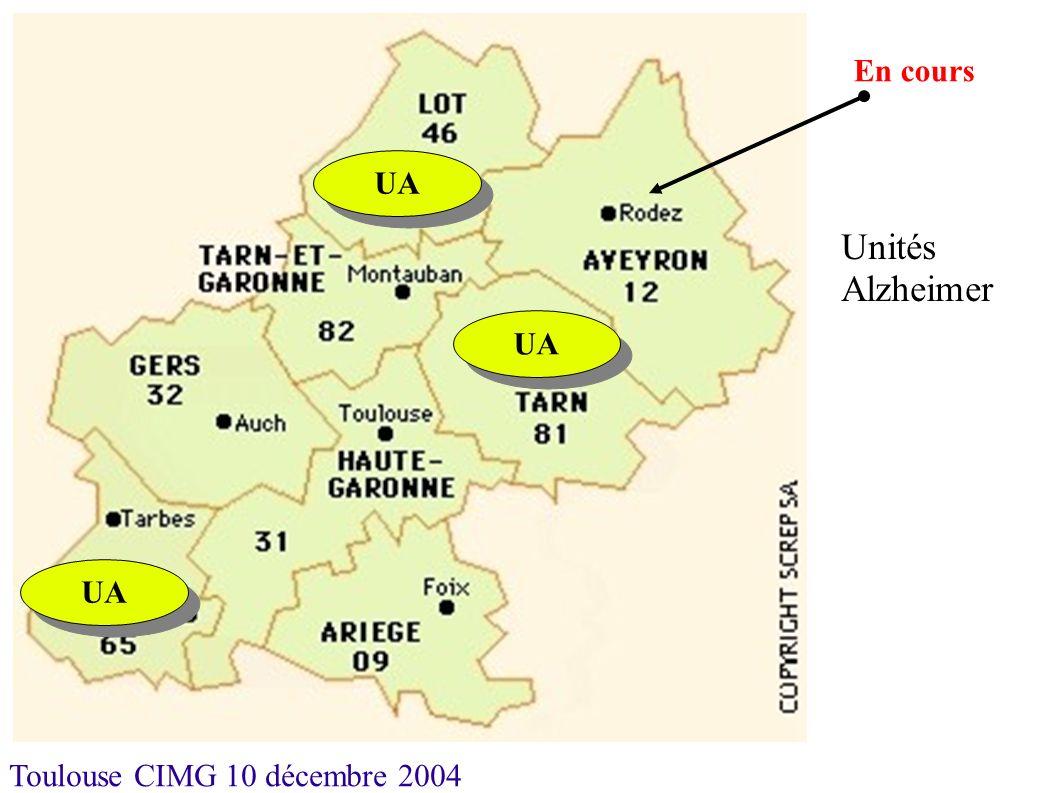 Toulouse CIMG 10 décembre 2004 UA En cours UA Unités Alzheimer UA