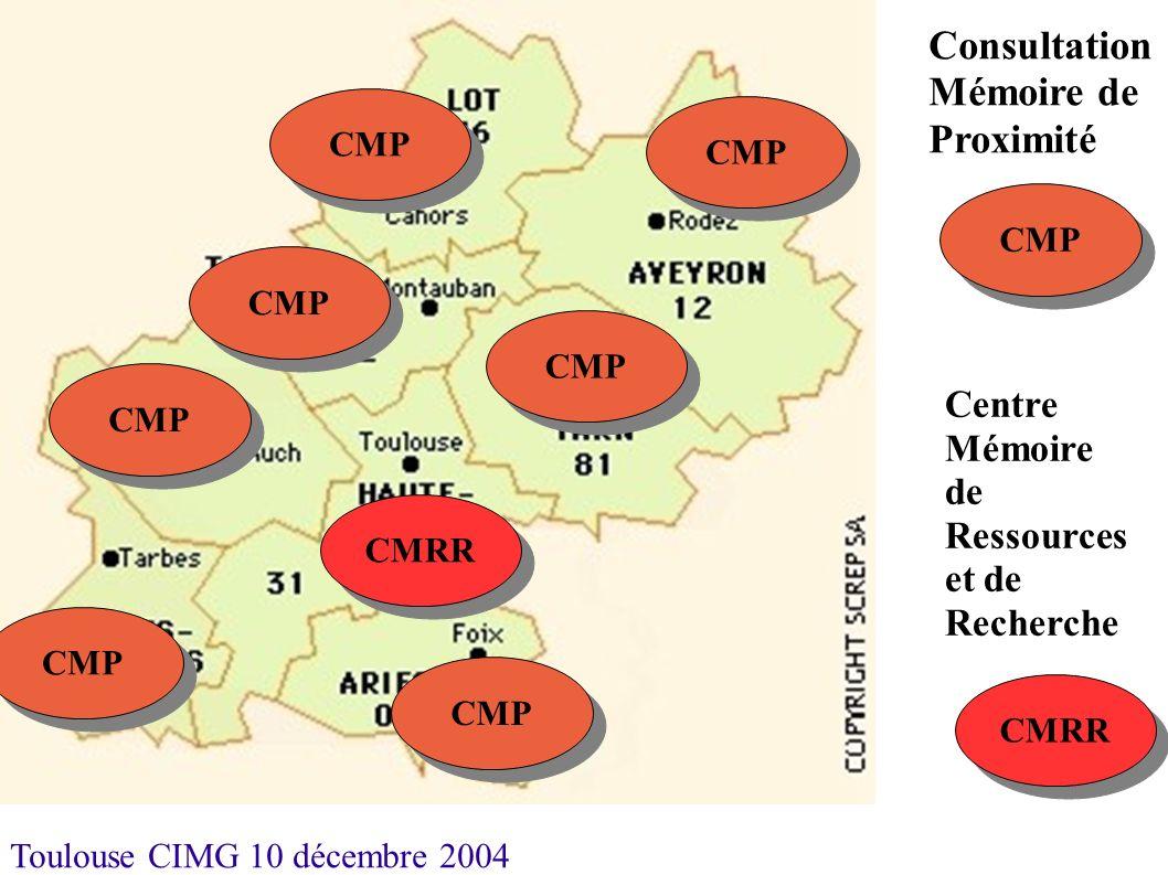 Toulouse CIMG 10 décembre 2004 CMRR CMP CMRR Consultation Mémoire de Proximité Centre Mémoire de Ressources et de Recherche