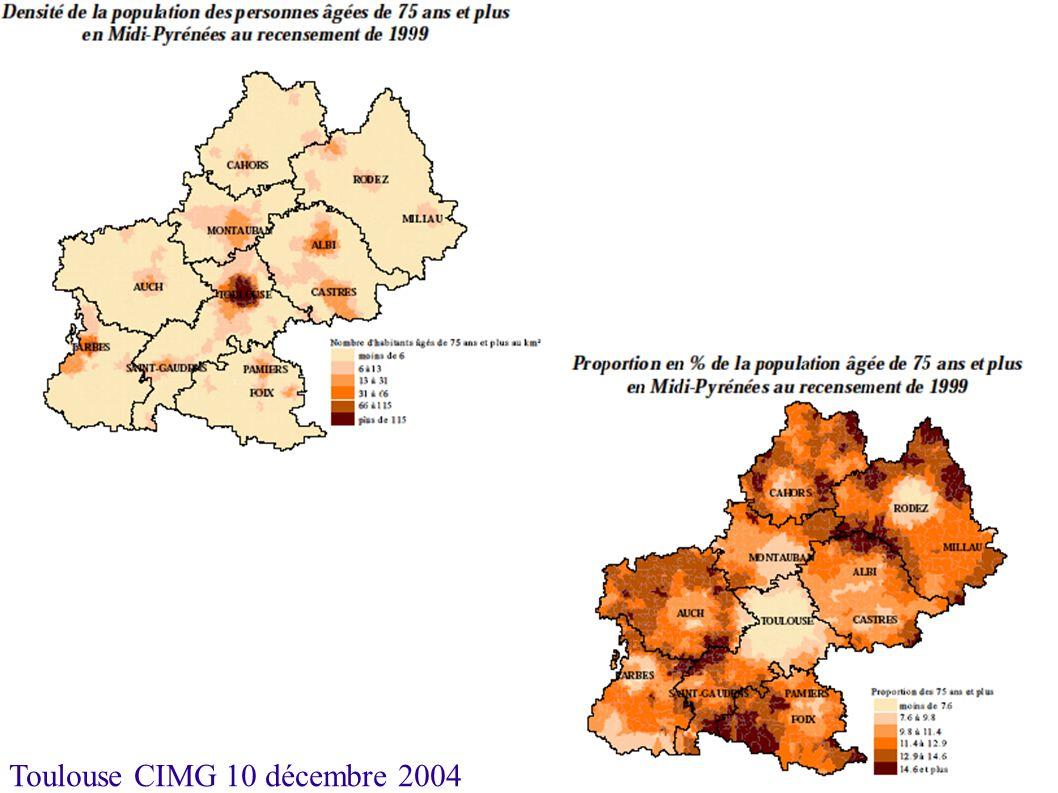 Toulouse CIMG 10 décembre 2004 Soins de Longue Durée Moyenne nationale proche de 22 pour mille.