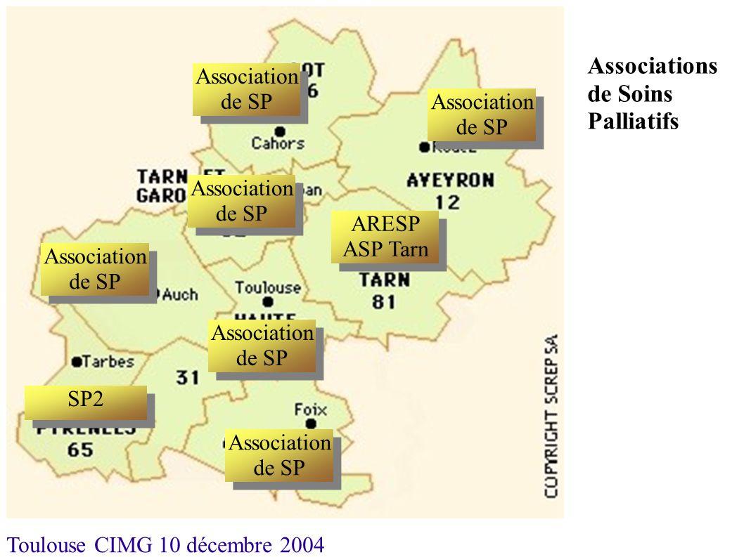 Toulouse CIMG 10 décembre 2004 Association de SP ARESP ASP Tarn Association de SP SP2 Association de SP ARESP ASP Tarn Association de SP Associations