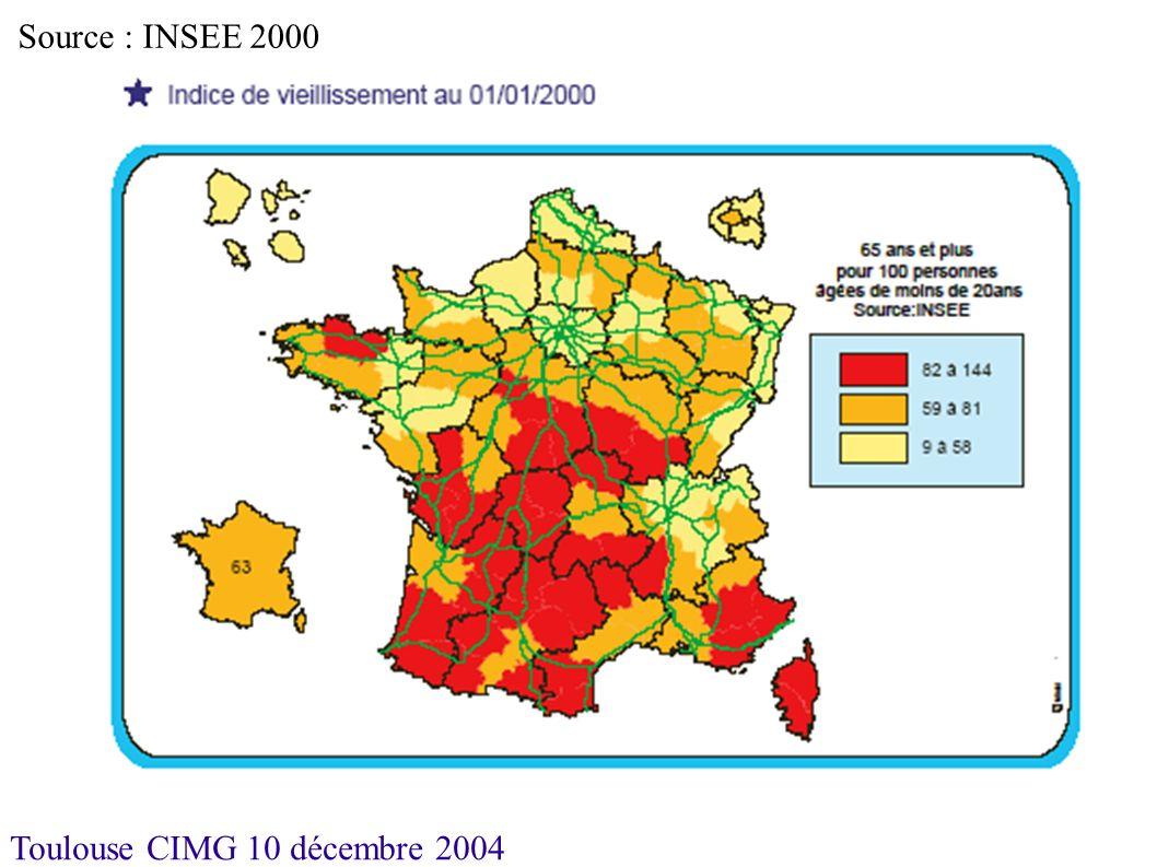 Toulouse CIMG 10 décembre 2004 2001 Source : DDASS/DRASS (Fichier ADELI) Méthode du double lissage