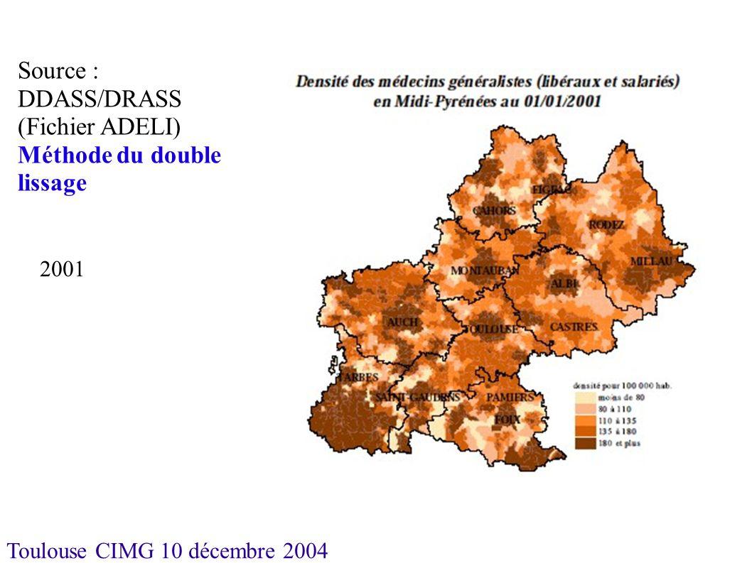 Toulouse CIMG 10 décembre 2004 Logements-foyers Hétérogénéité avec taux faible dans le Tarn, le Tarn-et-Garonne et les Hautes-Pyrénées.