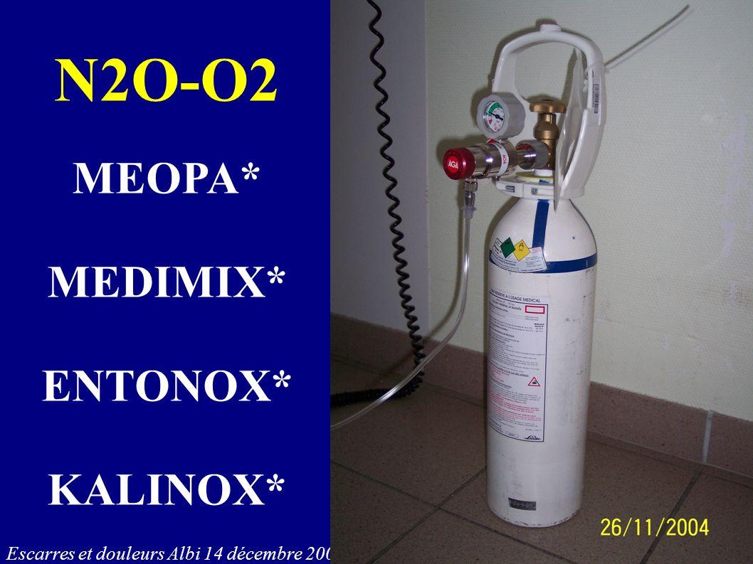 Escarres et douleurs Albi 14 décembre 2006 N2O-O2 MEOPA* MEDIMIX* ENTONOX* KALINOX*