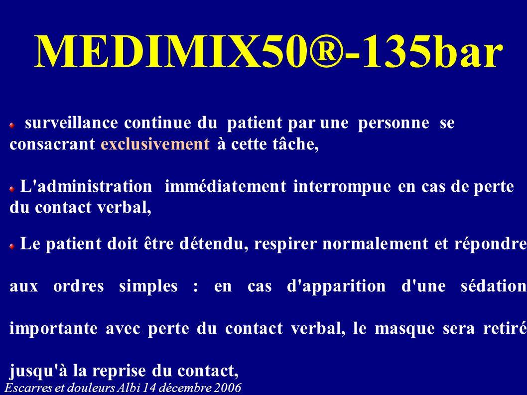 Escarres et douleurs Albi 14 décembre 2006 MEDIMIX50®-135bar surveillance continue du patient par une personne se consacrant exclusivement à cette tâc