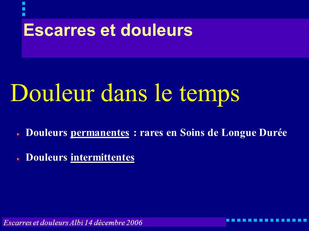 Escarres et douleurs Albi 14 décembre 2006 Escarres et douleurs Position escarres postérieures, hétéro-évaluation tient compte surtout d éléments antérieurs.