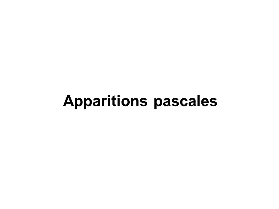 Apparitions pascales