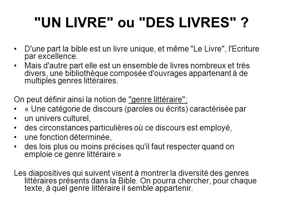 UN LIVRE ou DES LIVRES .