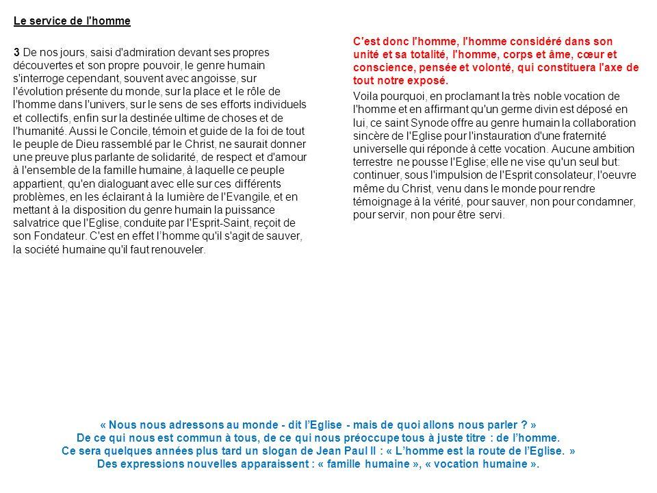 CHAPITRE PREMIER LA DIGNITE DE LA PERSONNE HUMAINE Ce chapitre et les deux suivants dessinent toute une image de lhomme (une anthropologie).