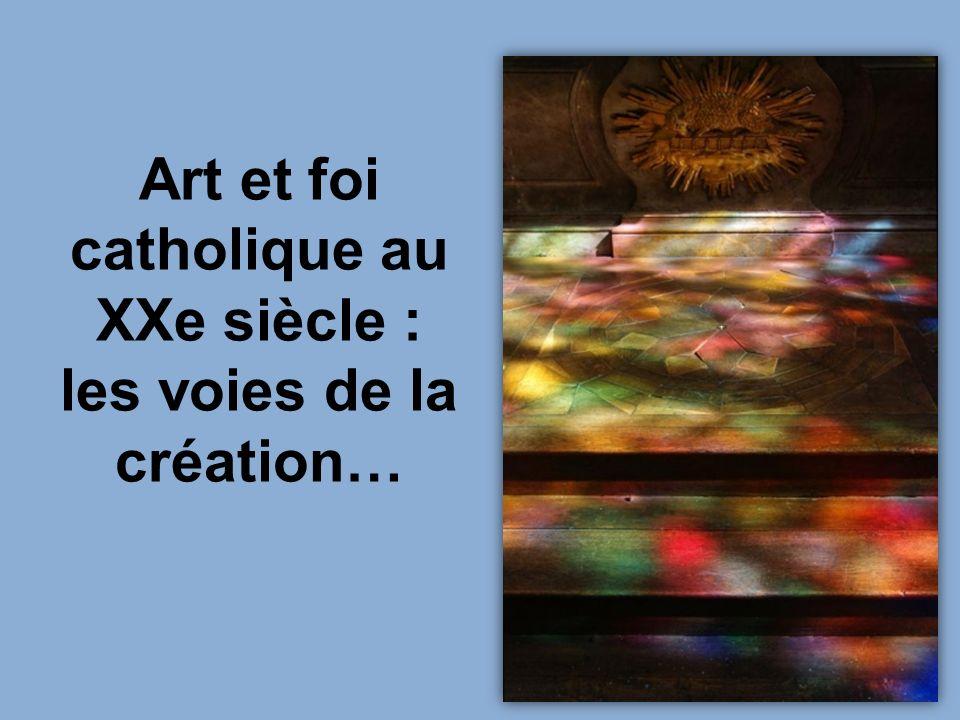 Flagellation Ste Véronique Rouault conçoit les vitraux de la façade de léglise du plateau d Assy.