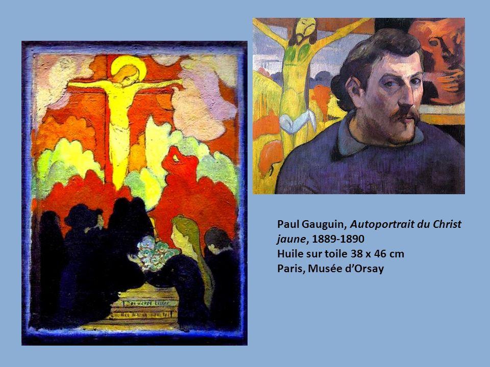 Paul Gauguin, Autoportrait du Christ jaune, 1889-1890 Huile sur toile 38 x 46 cm Paris, Musée dOrsay
