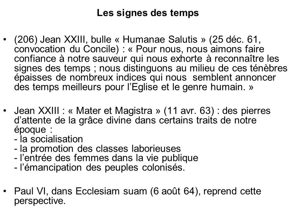 Les signes des temps (206) Jean XXIII, bulle « Humanae Salutis » (25 déc.
