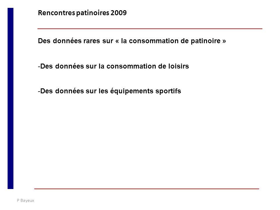 P Bayeux Des données rares sur « la consommation de patinoire » -Des données sur la consommation de loisirs -Des données sur les équipements sportifs