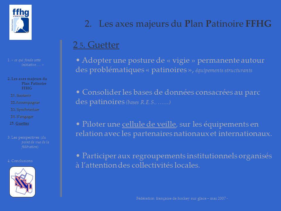 2. Les axes majeurs du Plan Patinoire FFHG 1. « ce qui fonde cette initiative…. » 2. Les axes majeurs du Plan Patinoire FFHG 21. Soutenir 21. Soutenir
