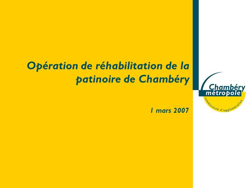 Opération de réhabilitation de la patinoire de Chambéry 1 mars 2007