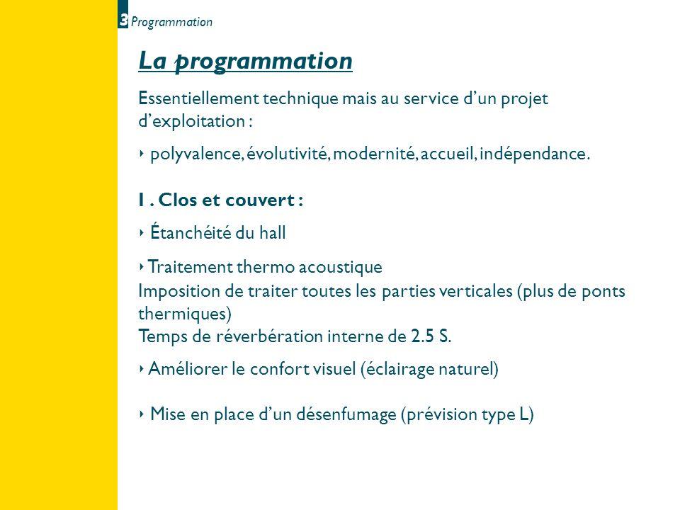 Programmation 3 La programmation Essentiellement technique mais au service dun projet dexploitation : polyvalence, évolutivité, modernité, accueil, indépendance.
