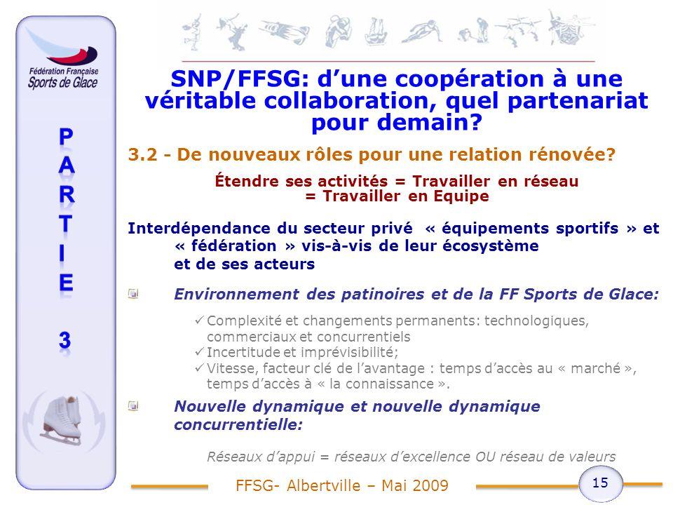 SNP/FFSG: dune coopération à une véritable collaboration, quel partenariat pour demain.