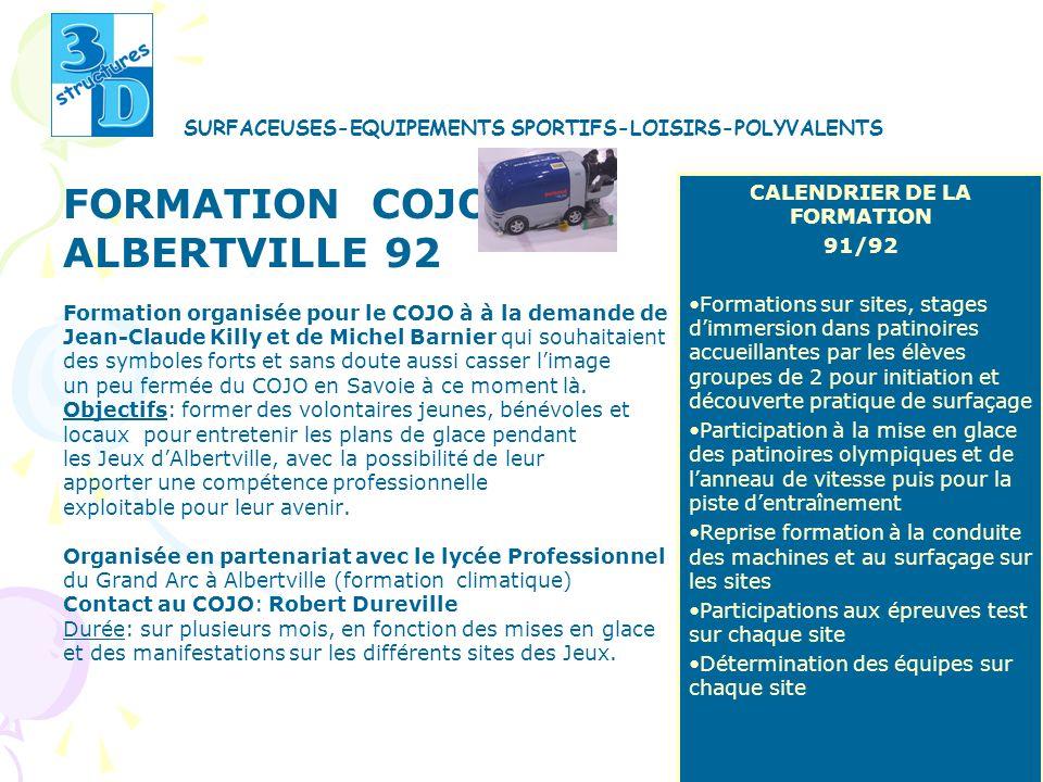 FORMATION COJO ALBERTVILLE 92 Formation organisée pour le COJO à à la demande de Jean-Claude Killy et de Michel Barnier qui souhaitaient des symboles