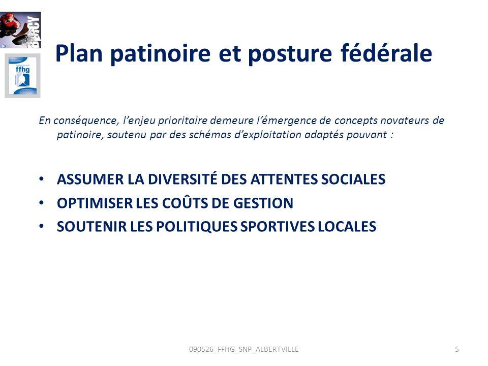 Plan patinoire et posture fédérale En conséquence, lenjeu prioritaire demeure lémergence de concepts novateurs de patinoire, soutenu par des schémas d