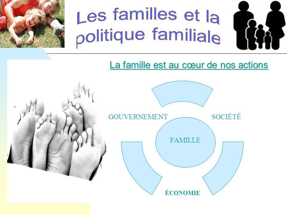 La famille est au cœur de nos actions FAMILLE