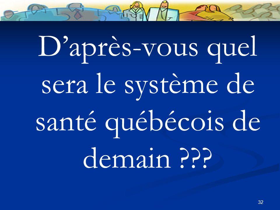 32 Daprès-vous quel sera le système de santé québécois de demain