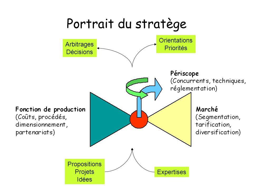Portrait du stratège Propositions Projets Idées Expertises Arbitrages Décisions Orientations Priorités