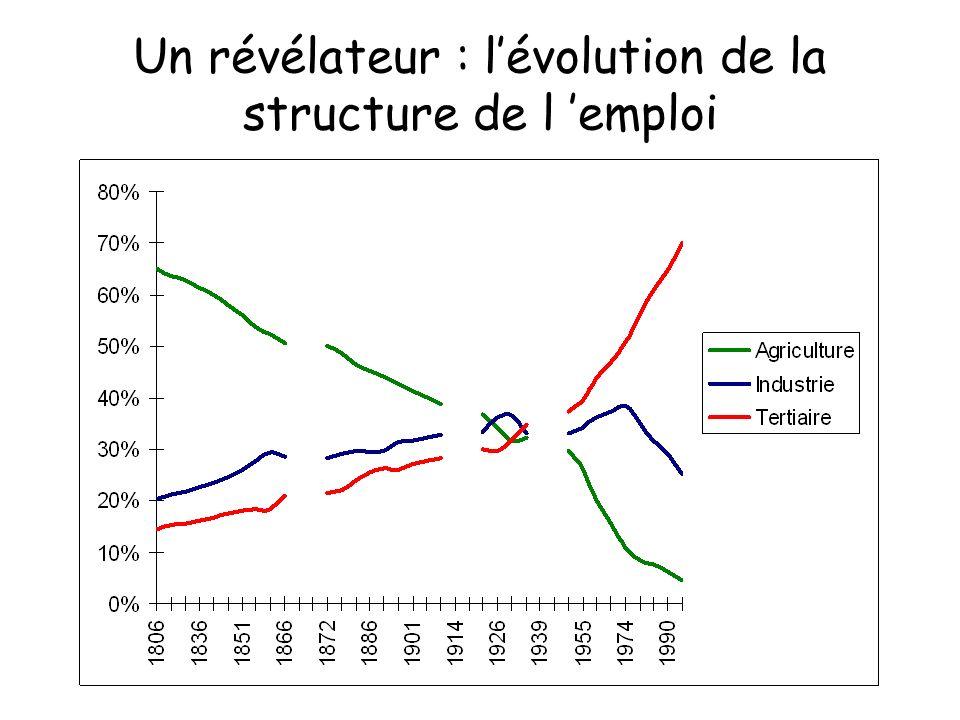 Un révélateur : lévolution de la structure de l emploi