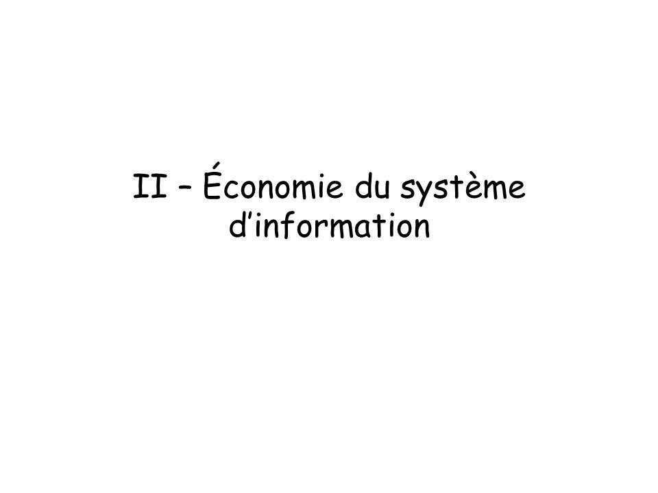 II – Économie du système dinformation