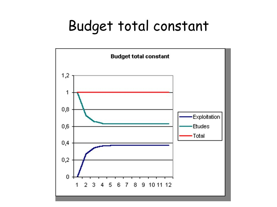Budget total constant