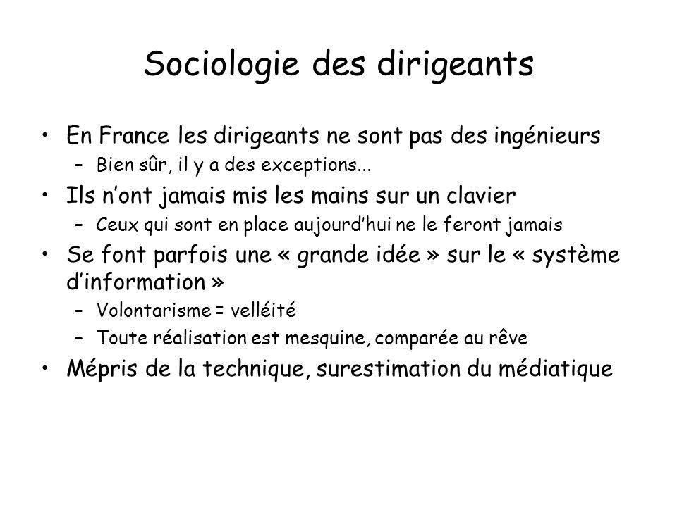 Sociologie des dirigeants En France les dirigeants ne sont pas des ingénieurs –Bien sûr, il y a des exceptions...