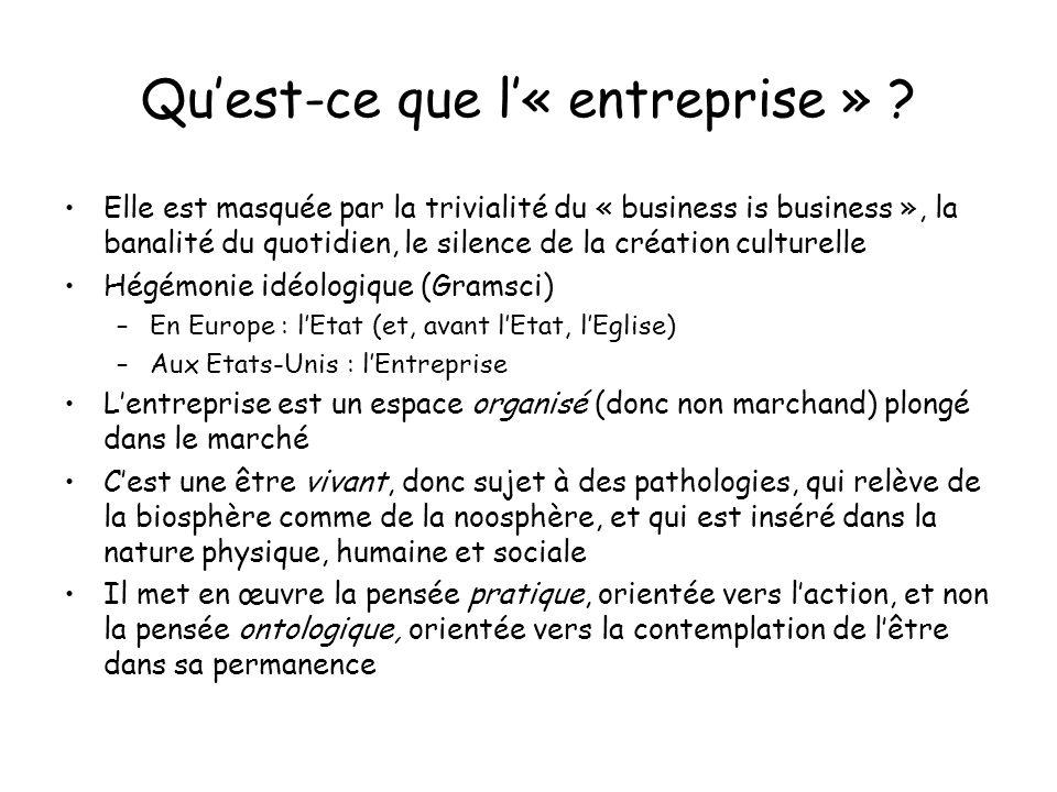Quest-ce que l« entreprise » .