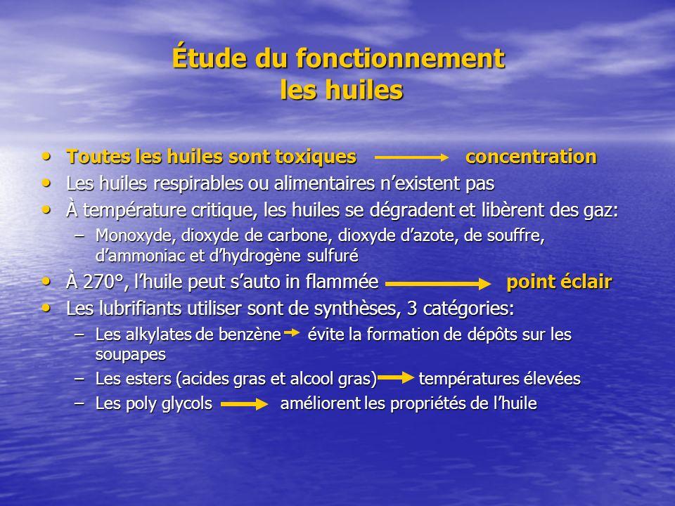 Étude du fonctionnement les huiles Toutes les huiles sont toxiques concentration Toutes les huiles sont toxiques concentration Les huiles respirables
