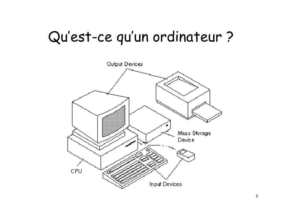 5 Quest-ce quun ordinateur ?