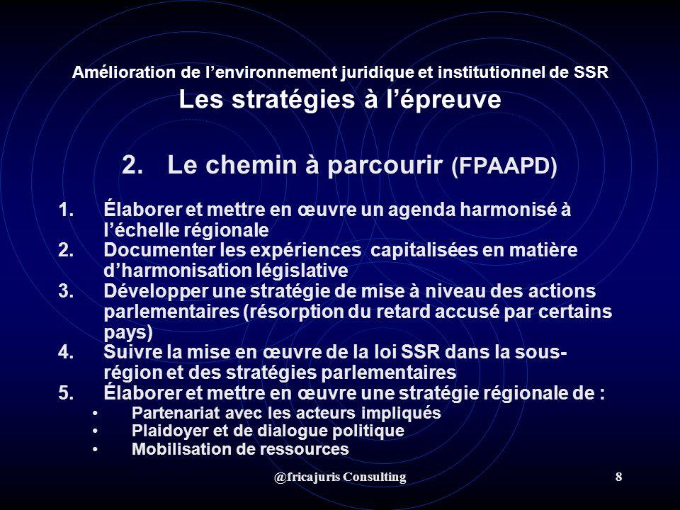 @fricajuris Consulting9 Prochaine étape : Orientations : AGIR 1.