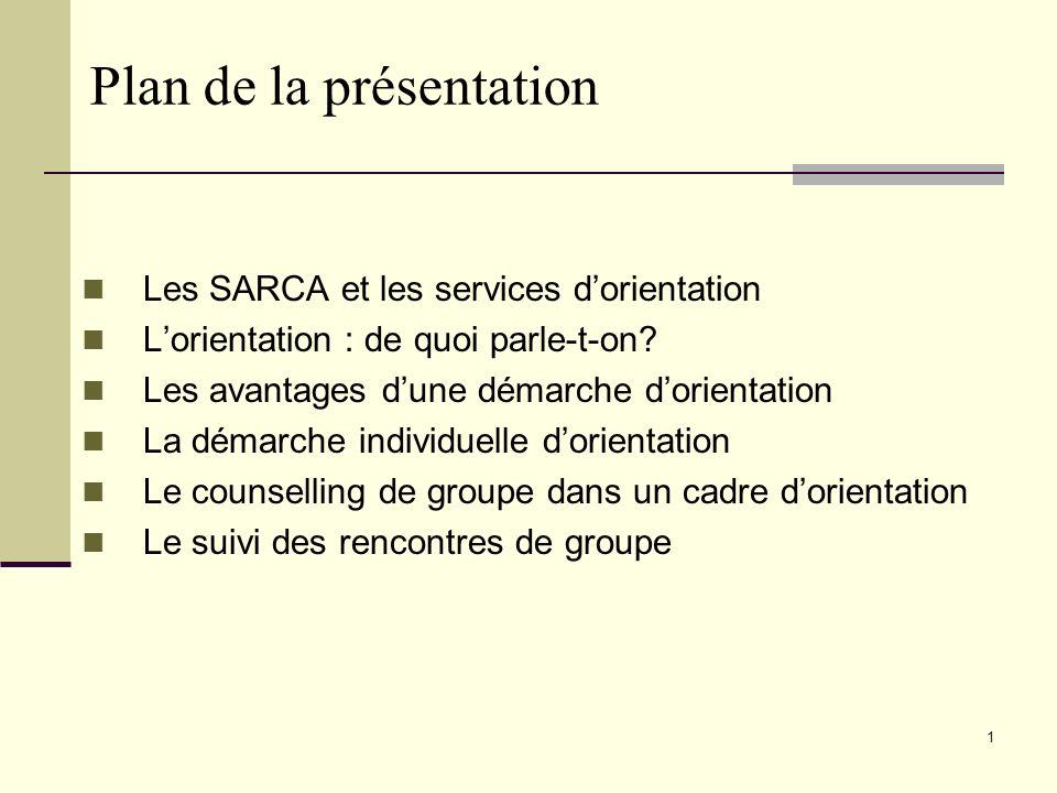 21 Pour nous rejoindre www.csdm.qc.ca/sarca Pour toute information relative aux SARCA centraux : Francine Hotte, Conseillère à linformation et au développement des SARCA (514) 350-8800 poste 4222