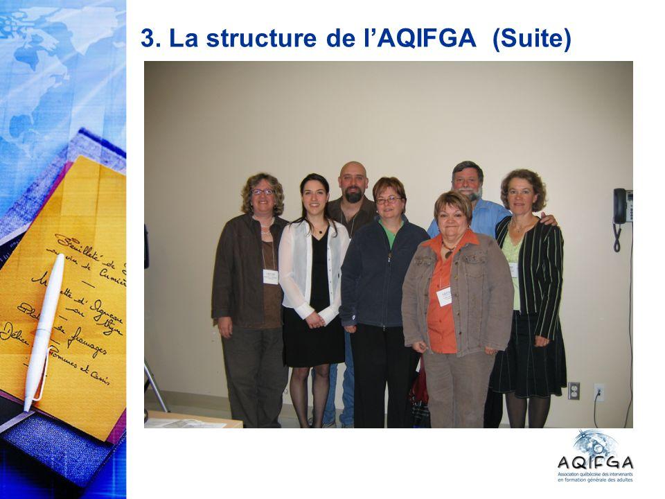 3. La structure de lAQIFGA (Suite)