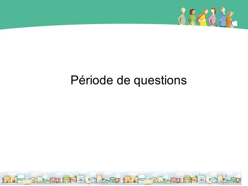 8 Période de questions