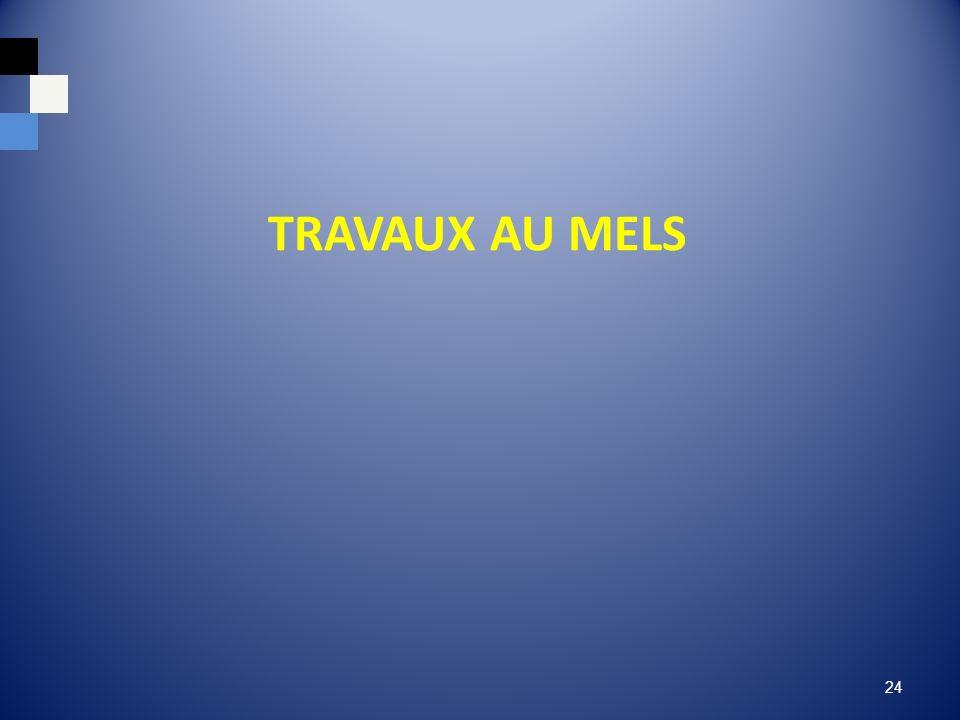TRAVAUX AU MELS 24
