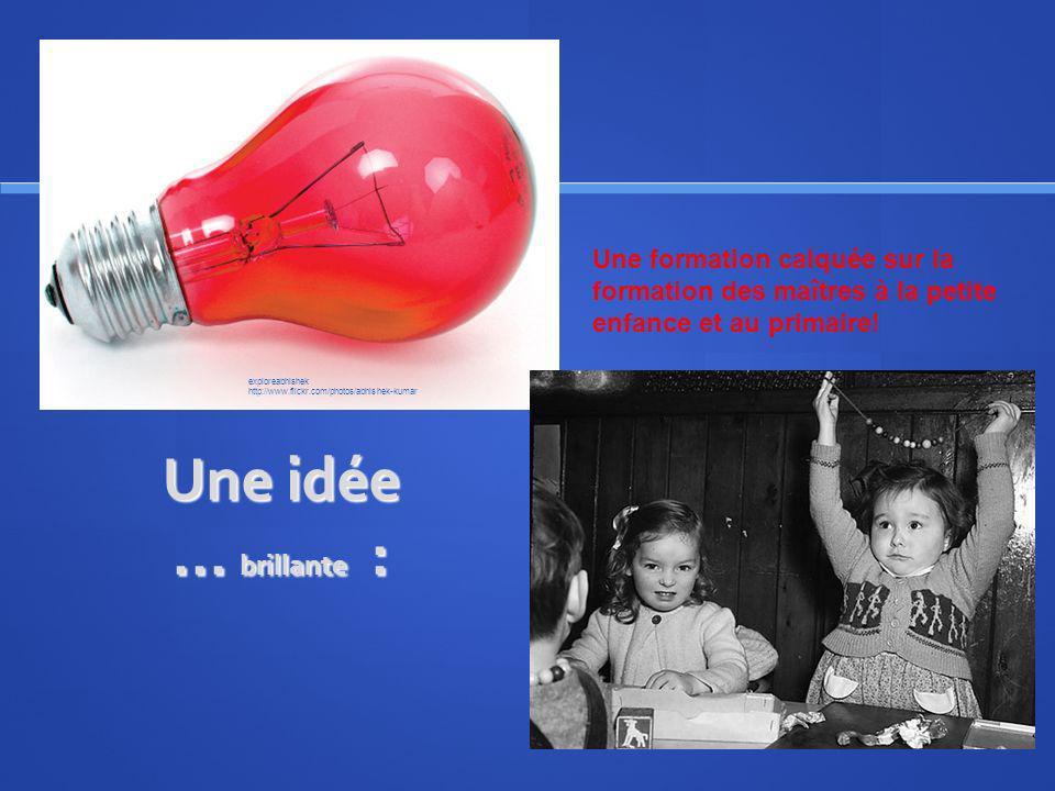 Une idée... brillante : Une formation calquée sur la formation des maîtres à la petite enfance et au primaire! exploreabhishek http://www.flickr.com/p